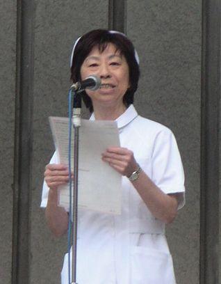 日本医労連田中千恵子委員長